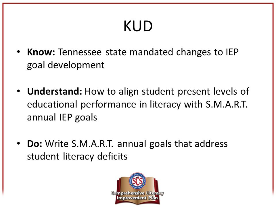 KUD Know: Tennessee state mandated changes to IEP goal development