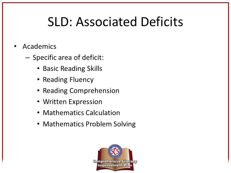 SLD: Associated Deficits