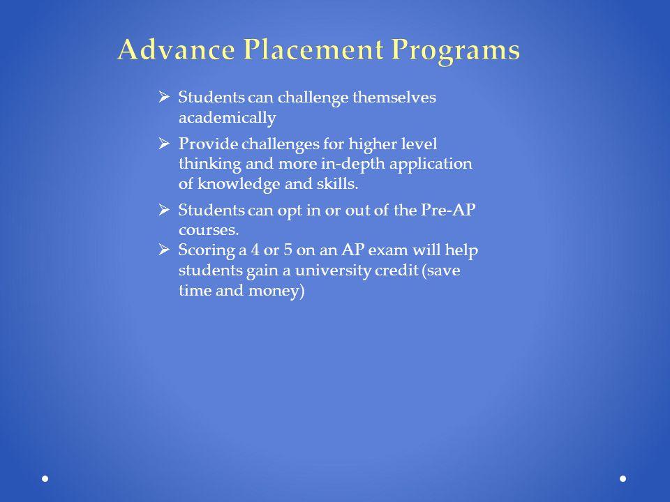 Advance Placement Programs