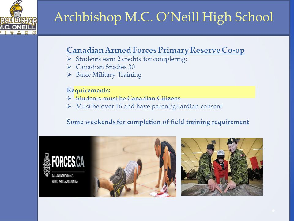Canadian Armed Forces Primary Reserve Co-op