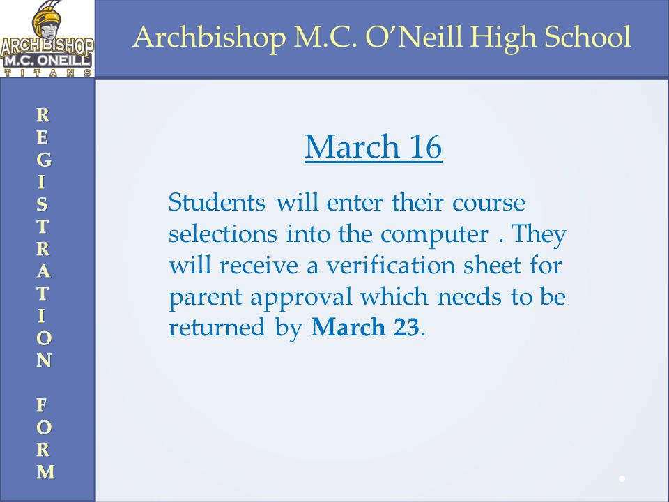 REGISTRATION FORM March 16.