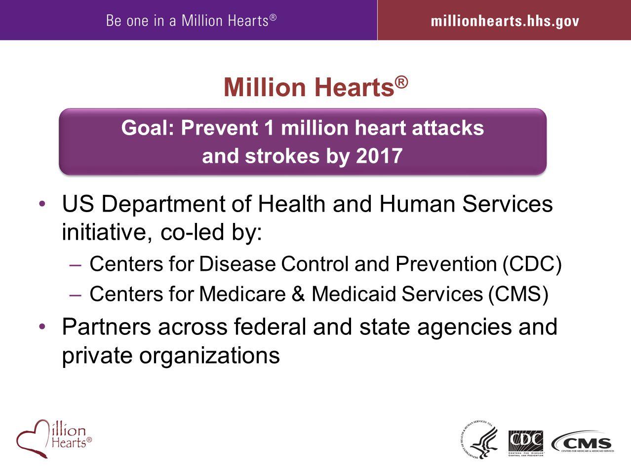 Goal: Prevent 1 million heart attacks