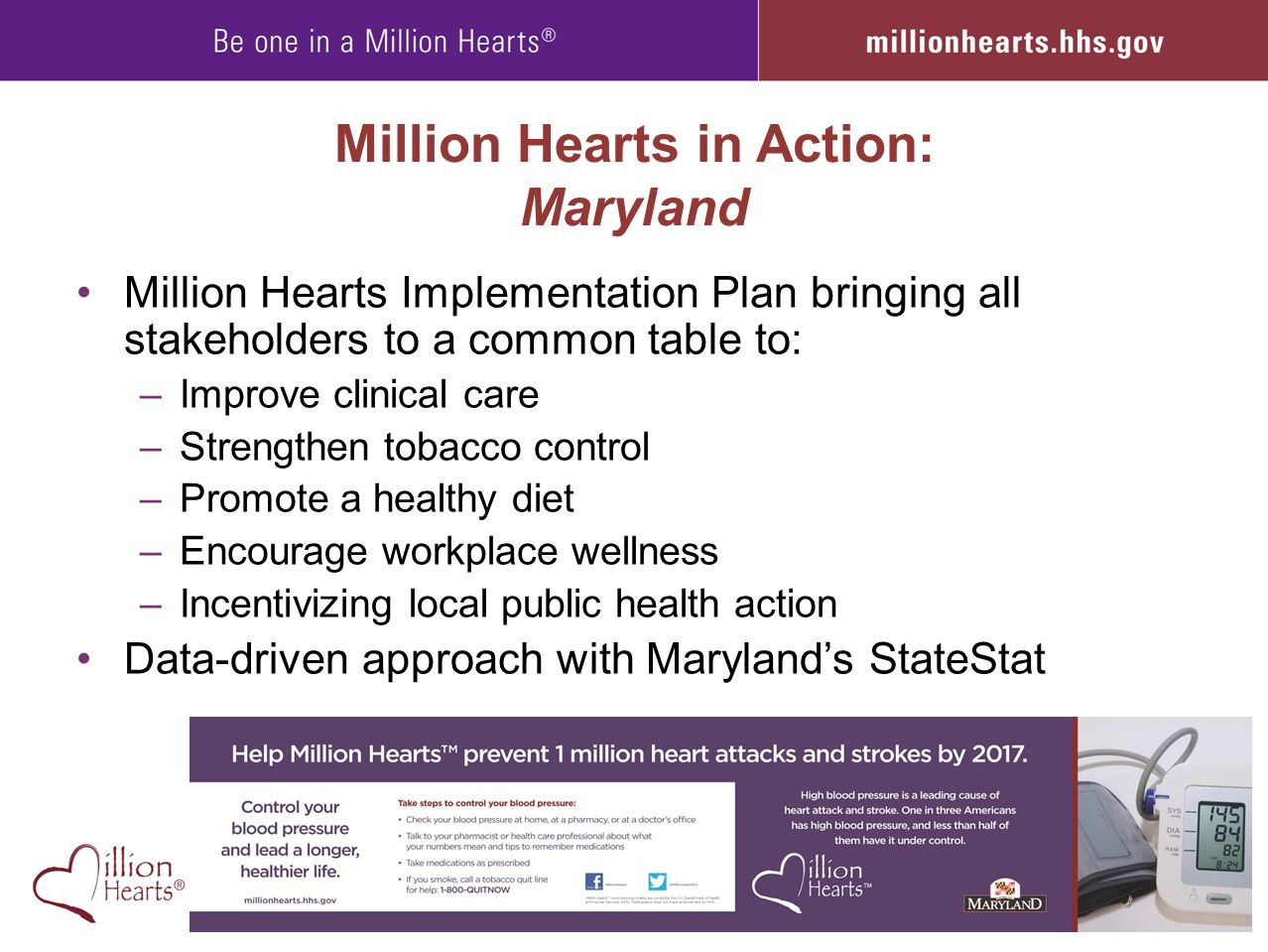 Million Hearts in Action: Maryland