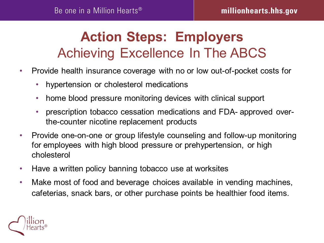 Action Steps: Employers Achieving Excellence In The ABCS
