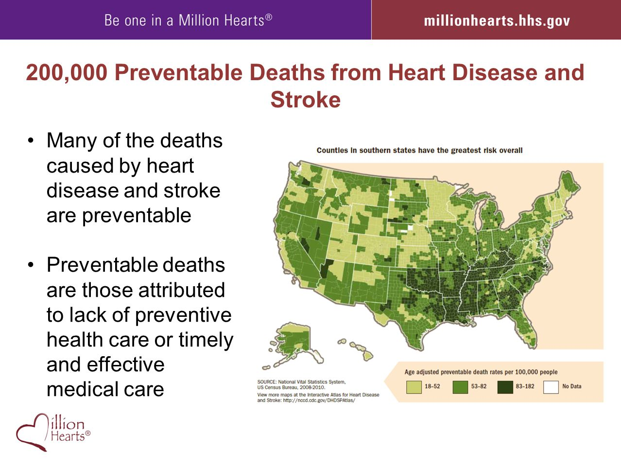 200,000 Preventable Deaths from Heart Disease and Stroke