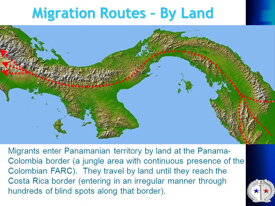 Migration Routes – By Land