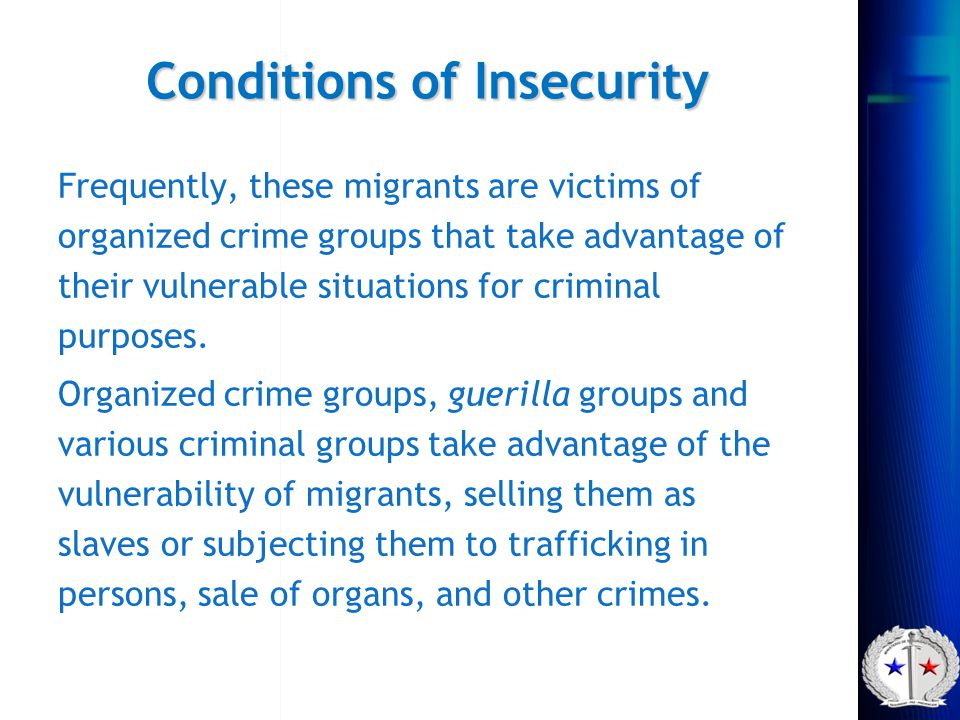 Conditions of Insecurity