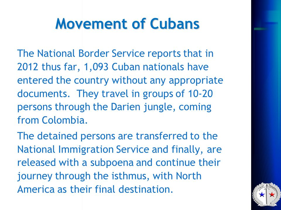 Movement of Cubans