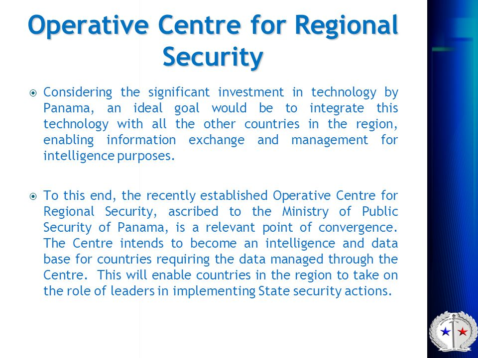 Operative Centre for Regional Security