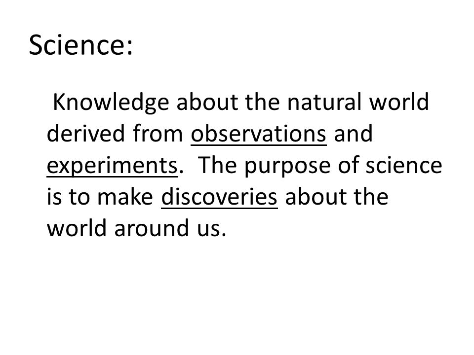 Science: