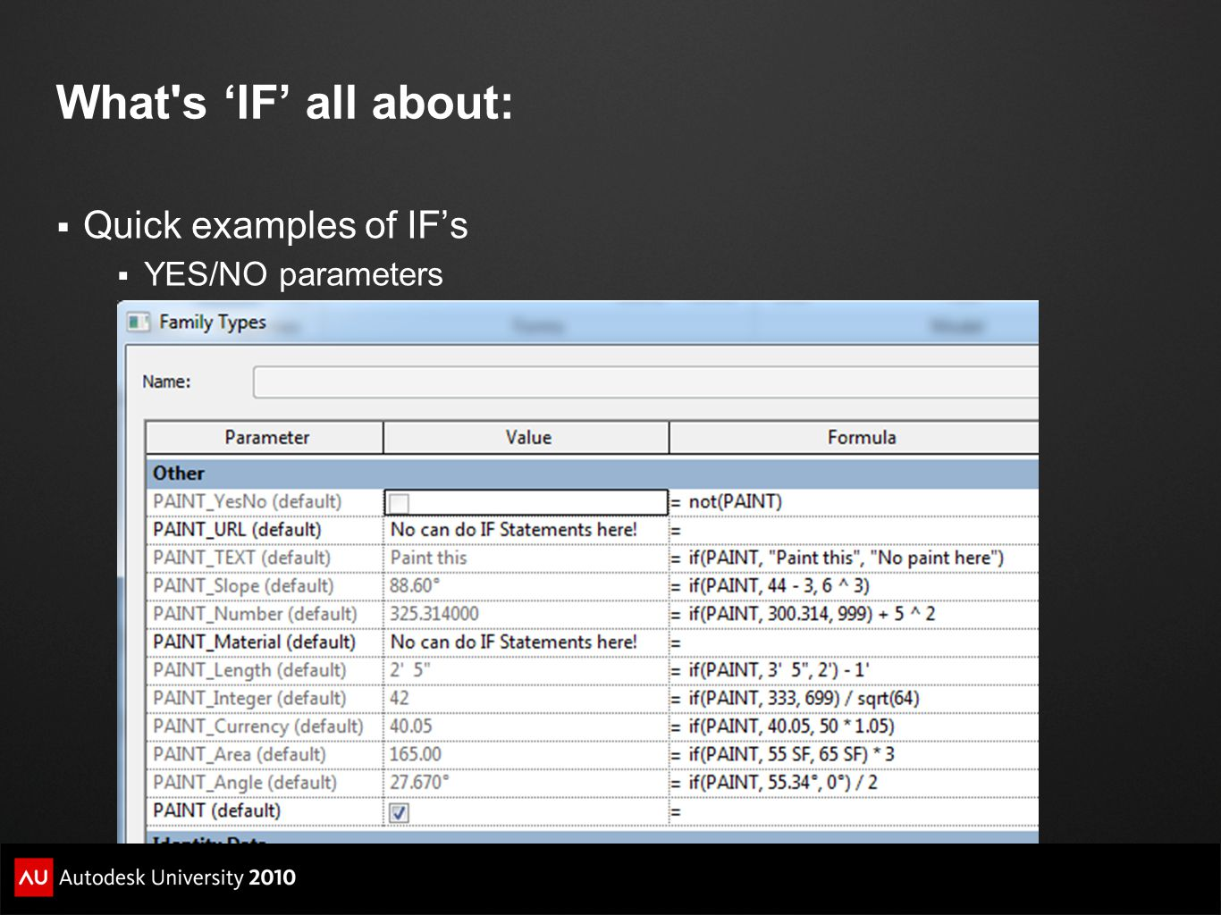 What s 'IF' all about: Quick examples of IF's YES/NO parameters