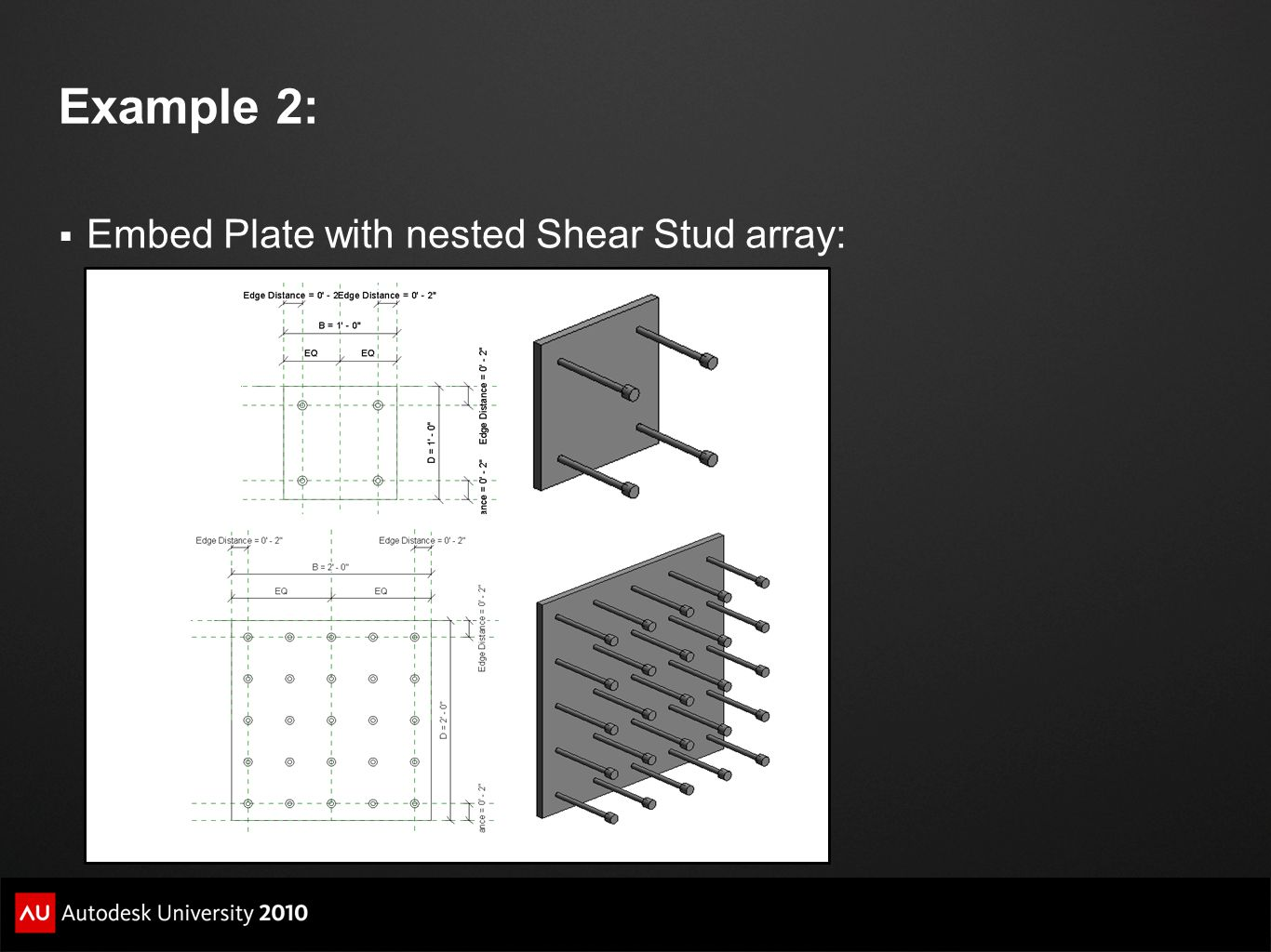 Example 2: Embed Plate with nested Shear Stud array: