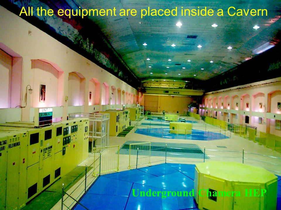 All the equipment are placed inside a Cavern