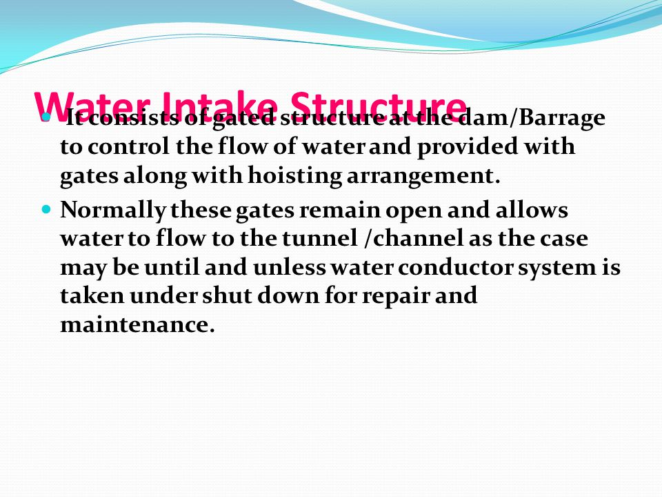 Water Intake Structure