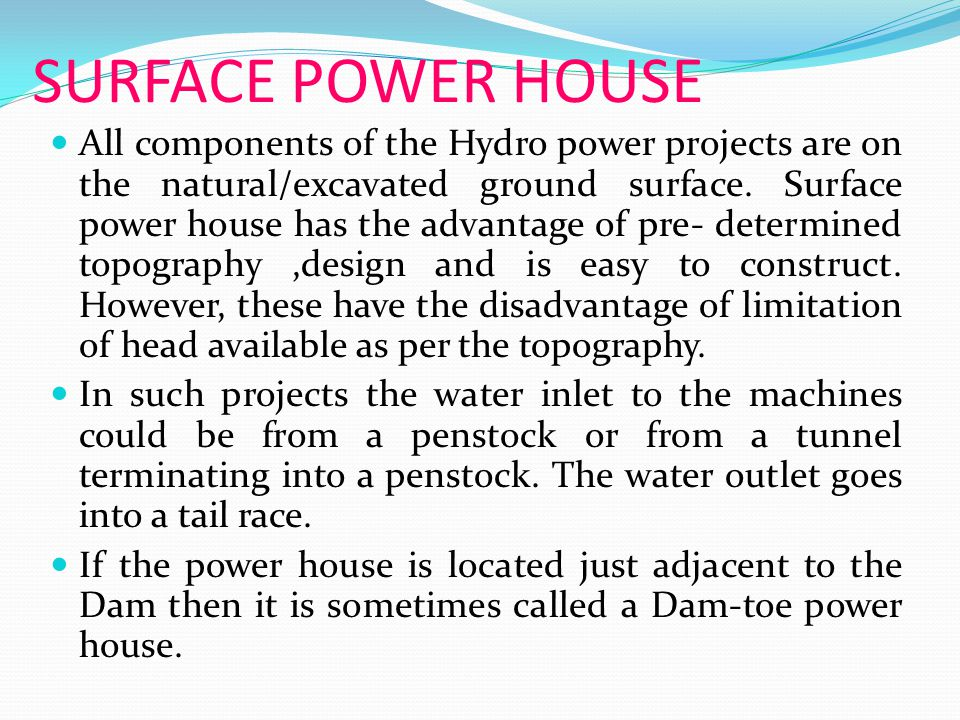 SURFACE POWER HOUSE