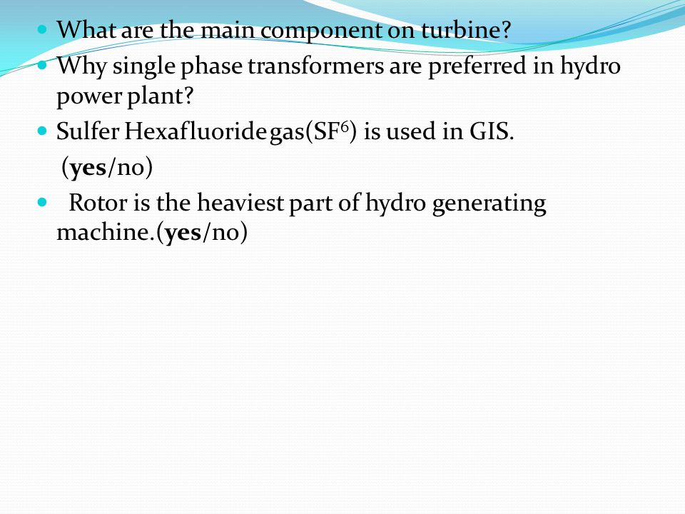 What are the main component on turbine