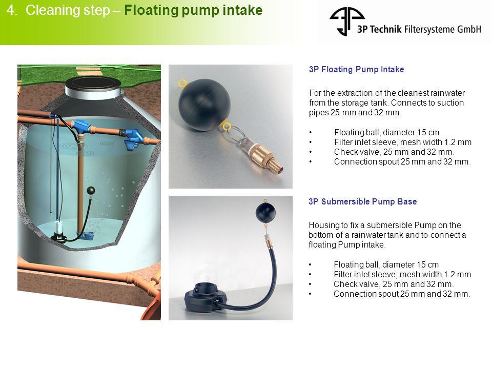 4. Cleaning step – Floating pump intake