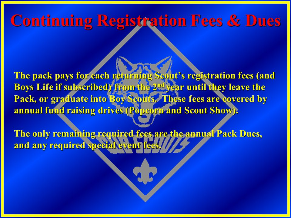 Continuing Registration Fees & Dues