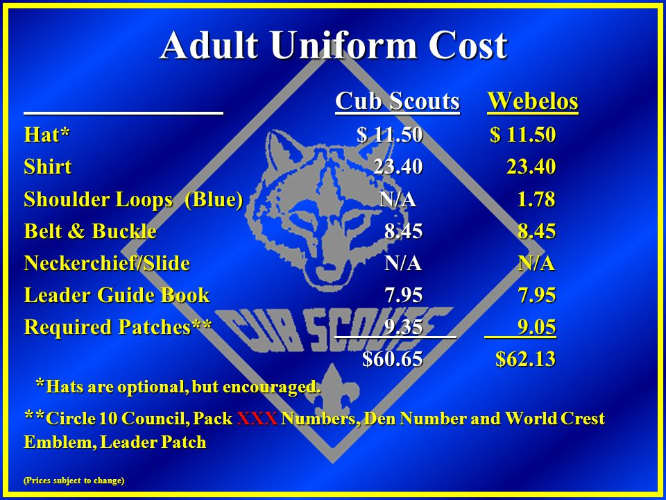 Adult Uniform Cost Cub Scouts Webelos Hat* $ 11.50 $ 11.50