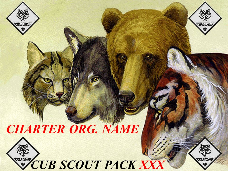 CHARTER ORG. NAME CUB SCOUT PACK XXX