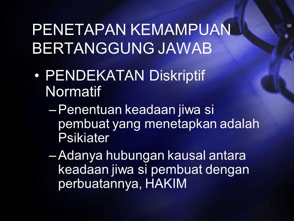 PENETAPAN KEMAMPUAN BERTANGGUNG JAWAB