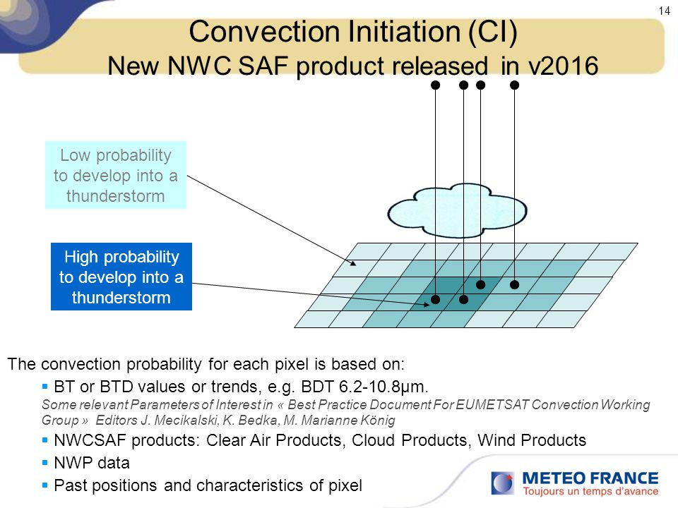 Convection Initiation (CI) New NWC SAF product released in v2016