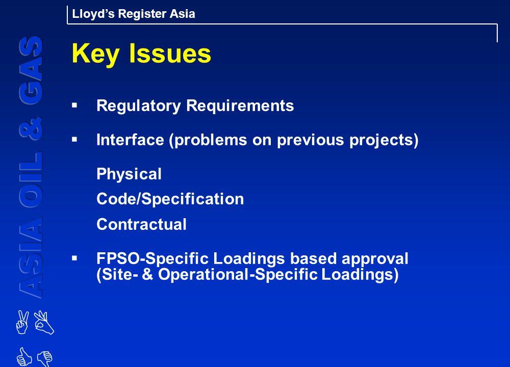 Key Issues Regulatory Requirements