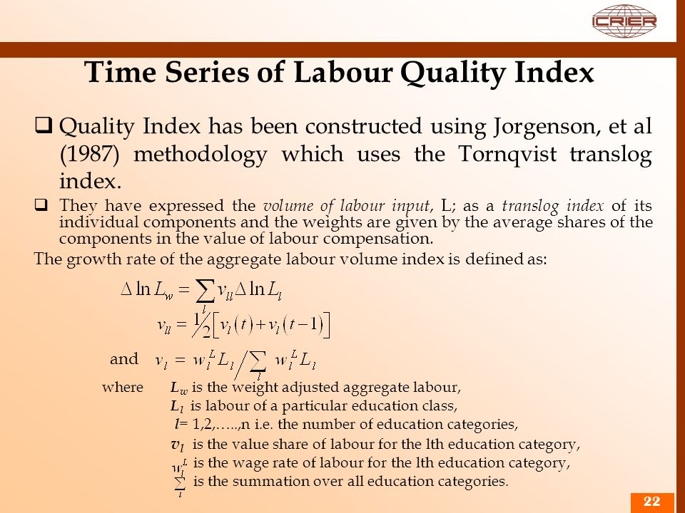 Time Series of Labour Quality Index
