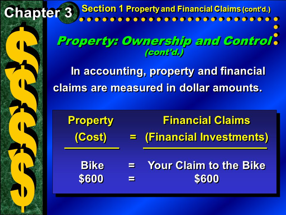Property: Ownership and Control (cont d.)