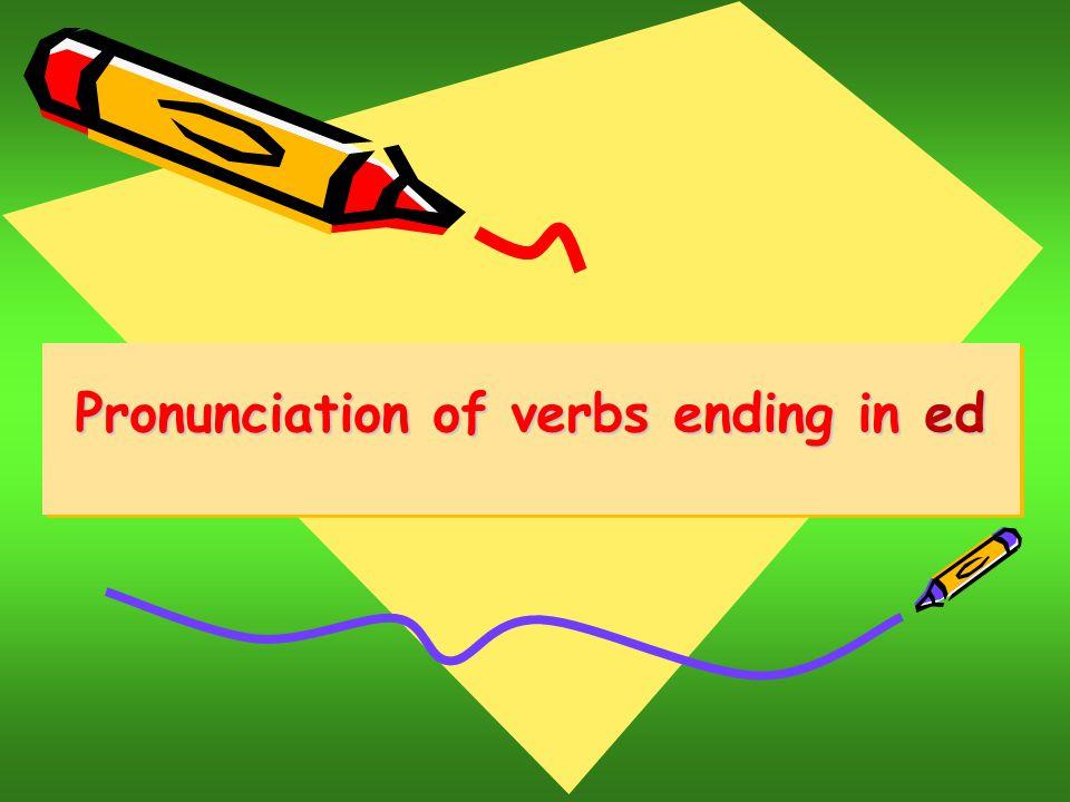 pronunciation of ed endings pdf
