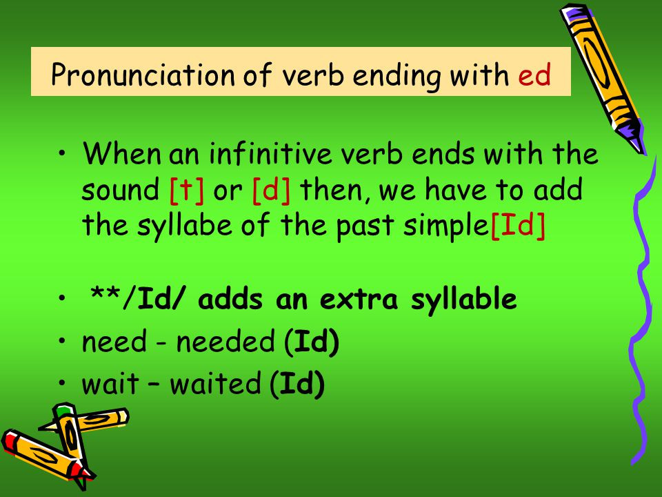 Pronunciation of verb ending with ed