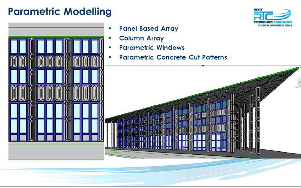 Parametric Modelling Panel Based Array Column Array Parametric Windows