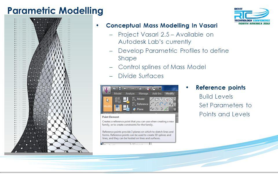 Parametric Modelling Conceptual Mass Modelling In Vasari