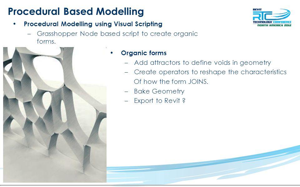Procedural Based Modelling