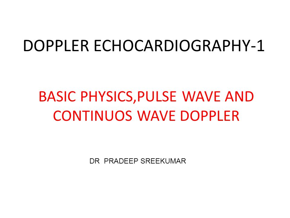 DOPPLER ECHOCARDIOGRAPHY-1