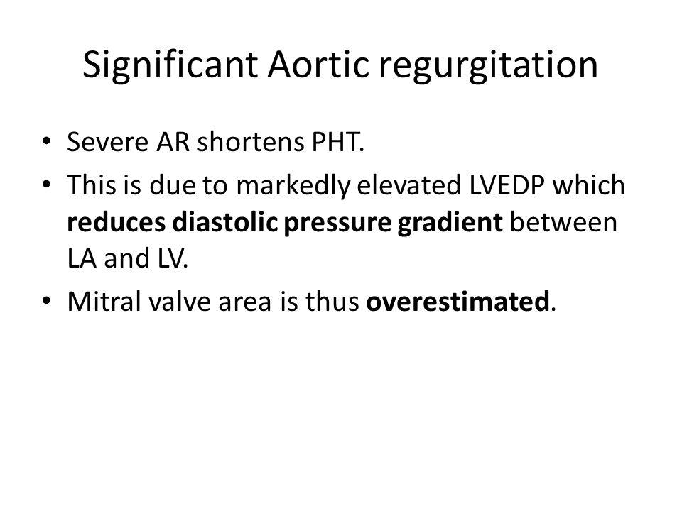 Significant Aortic regurgitation