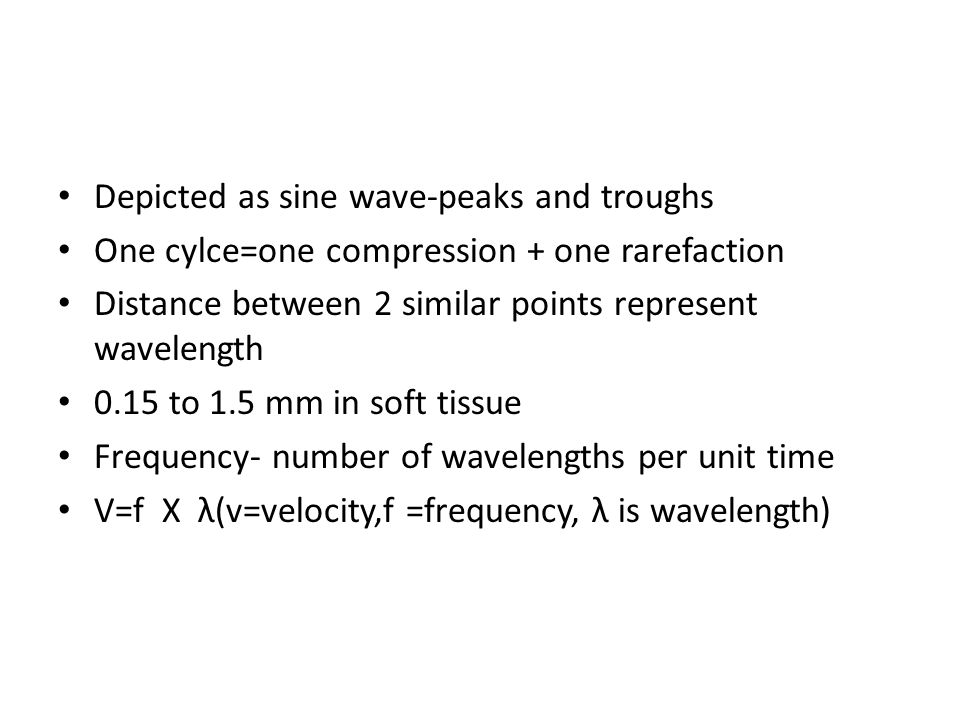 Depicted as sine wave-peaks and troughs