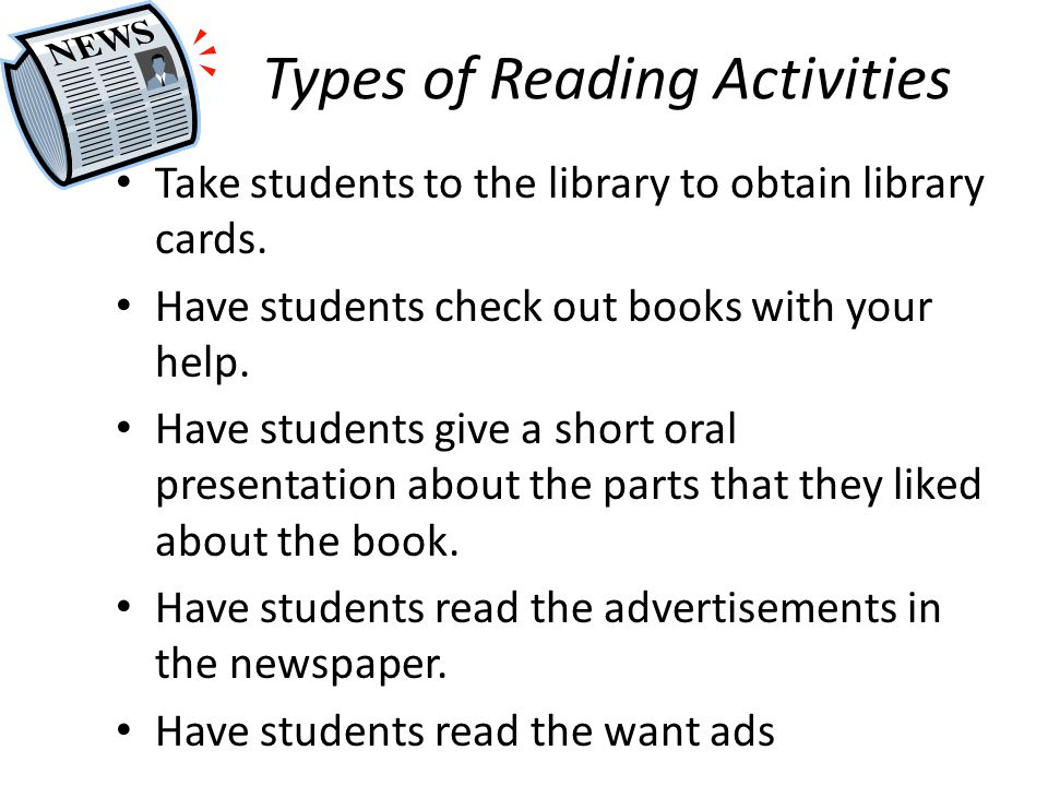 Types of Reading Activities