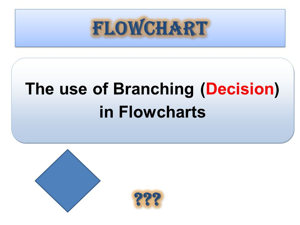 The use of Branching (Decision) in Flowcharts