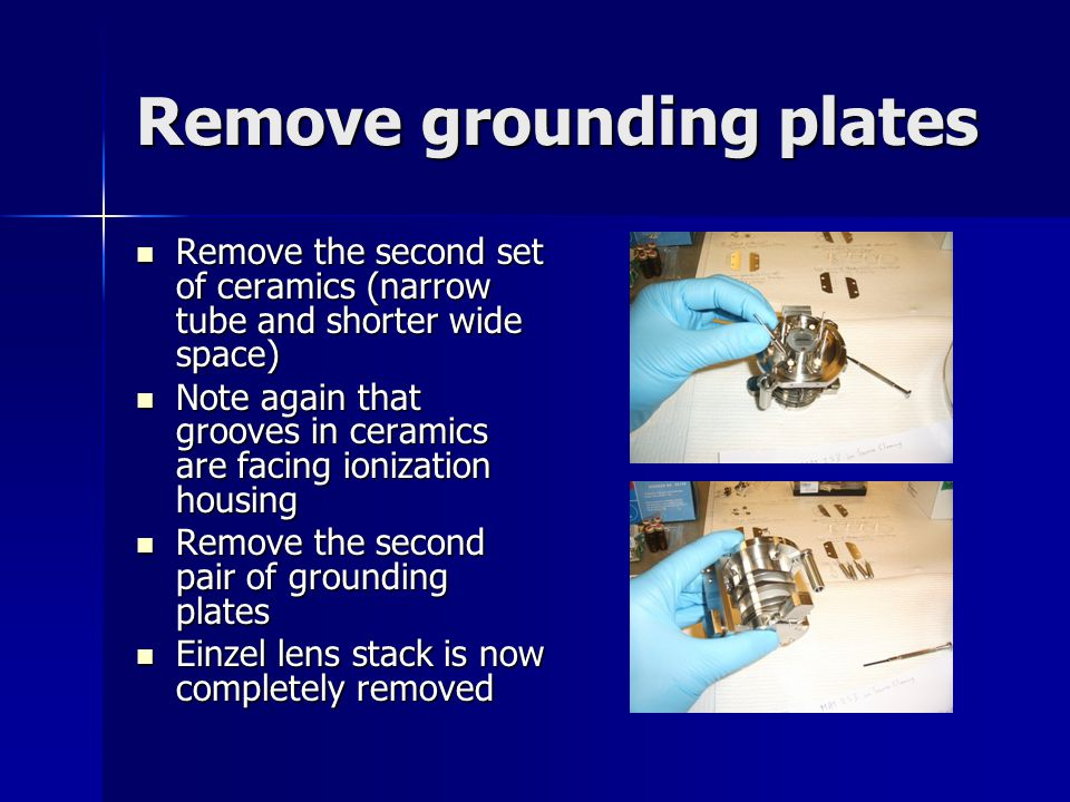 Remove grounding plates