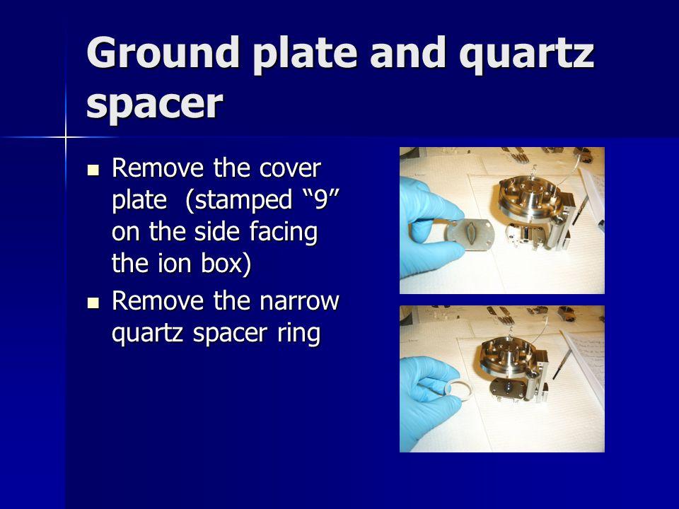 Ground plate and quartz spacer