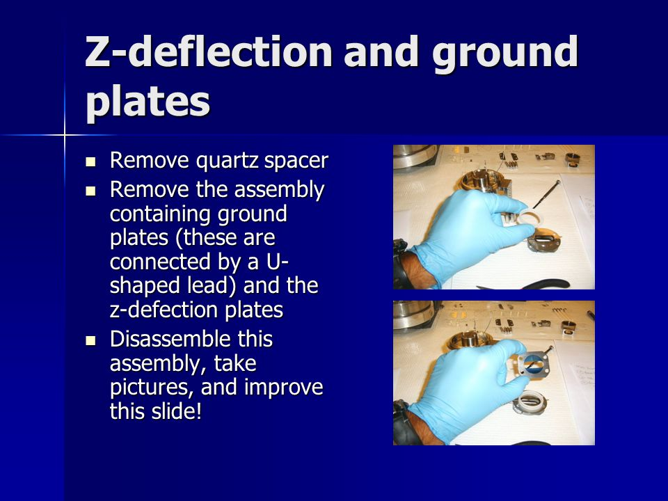 Z-deflection and ground plates