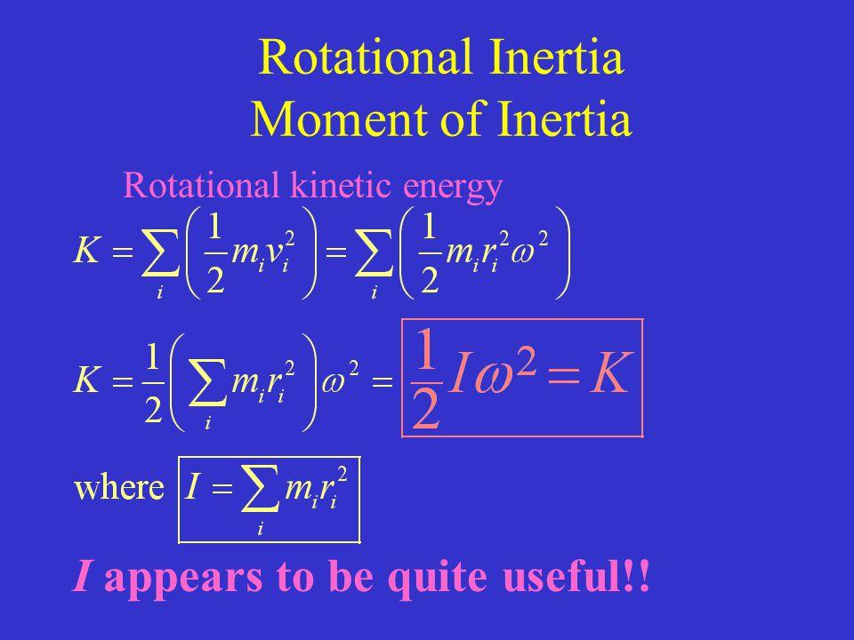 Rotational Inertia Moment of Inertia