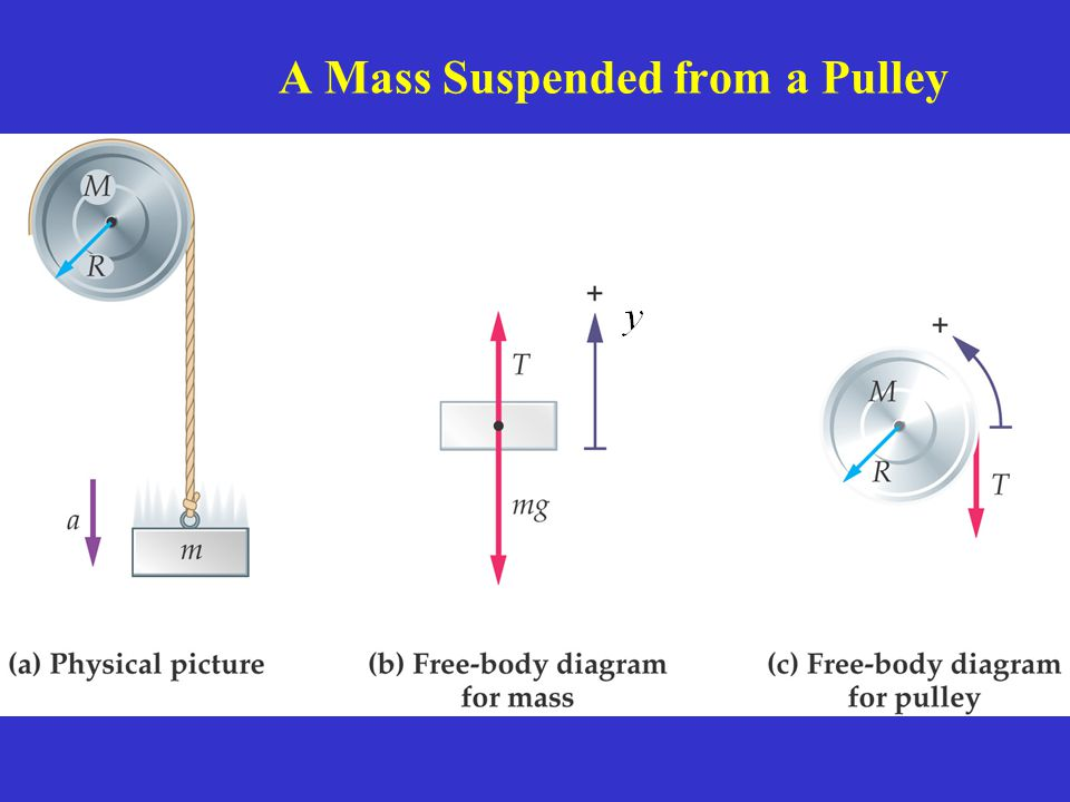 A Mass Suspended from a Pulley