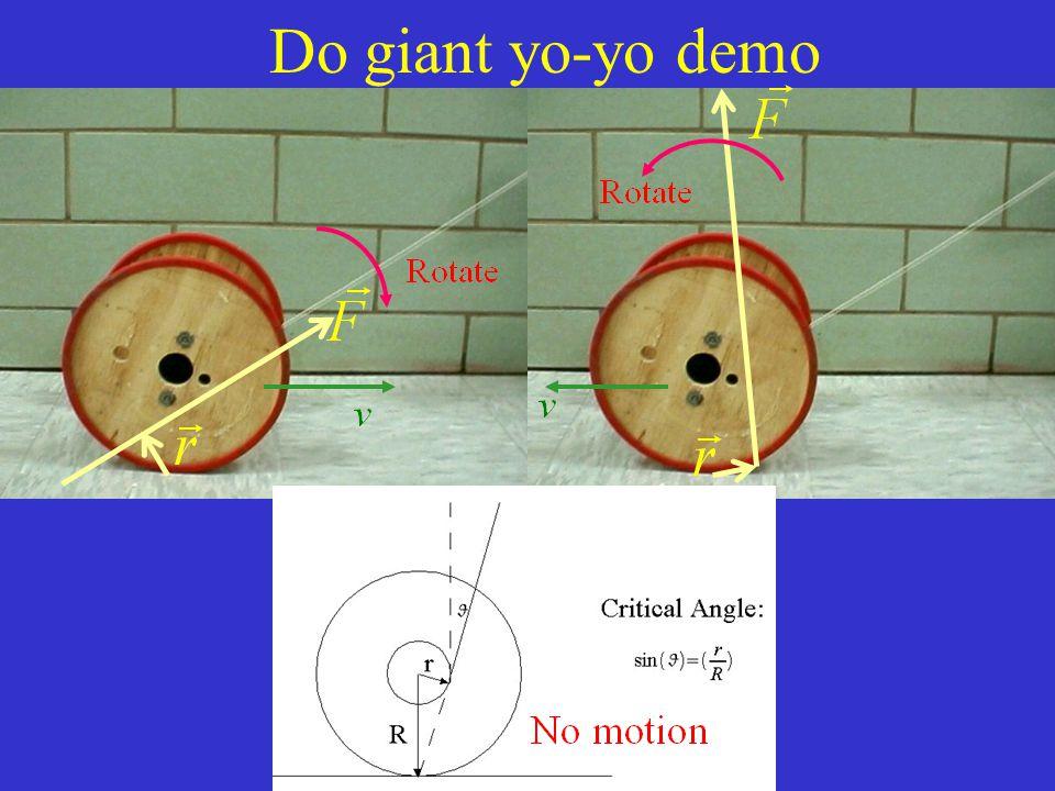 Do giant yo-yo demo