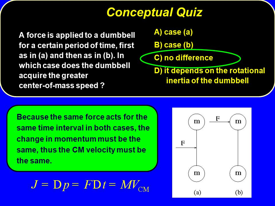 Conceptual Quiz A) case (a)
