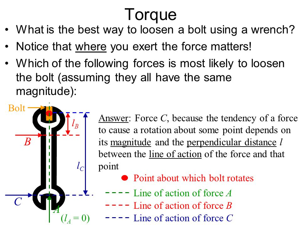 Torque What is the best way to loosen a bolt using a wrench?