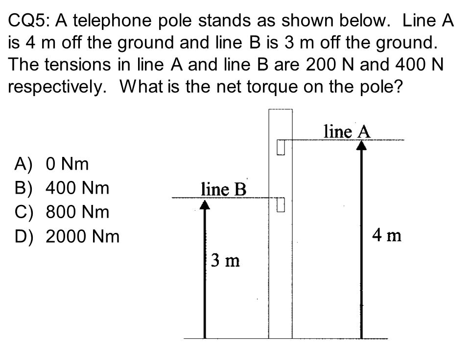 CQ5: A telephone pole stands as shown below