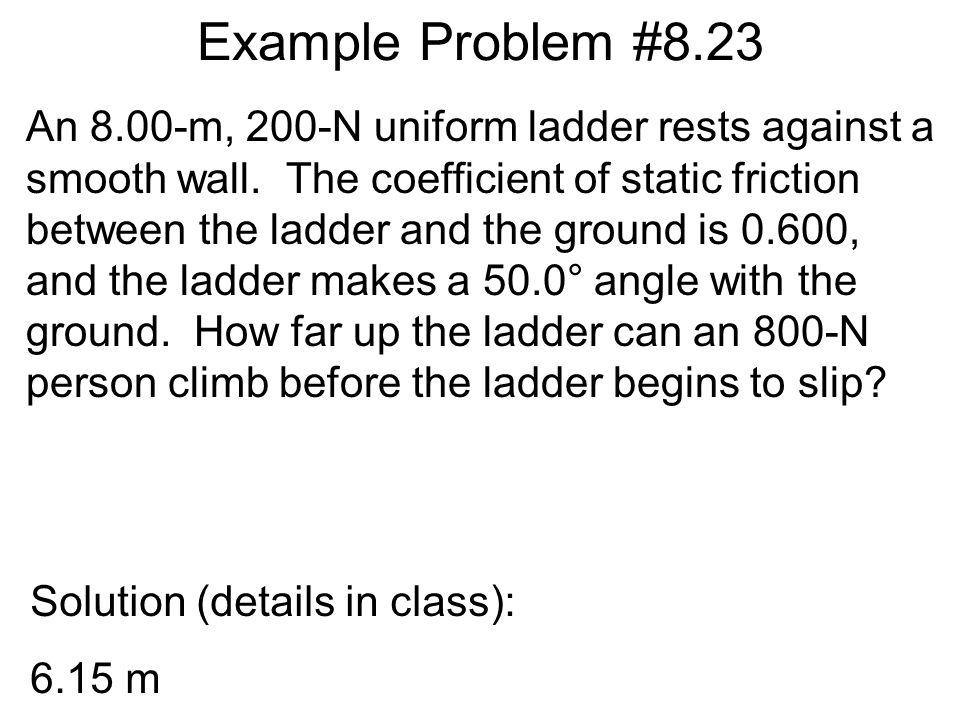Example Problem #8.23