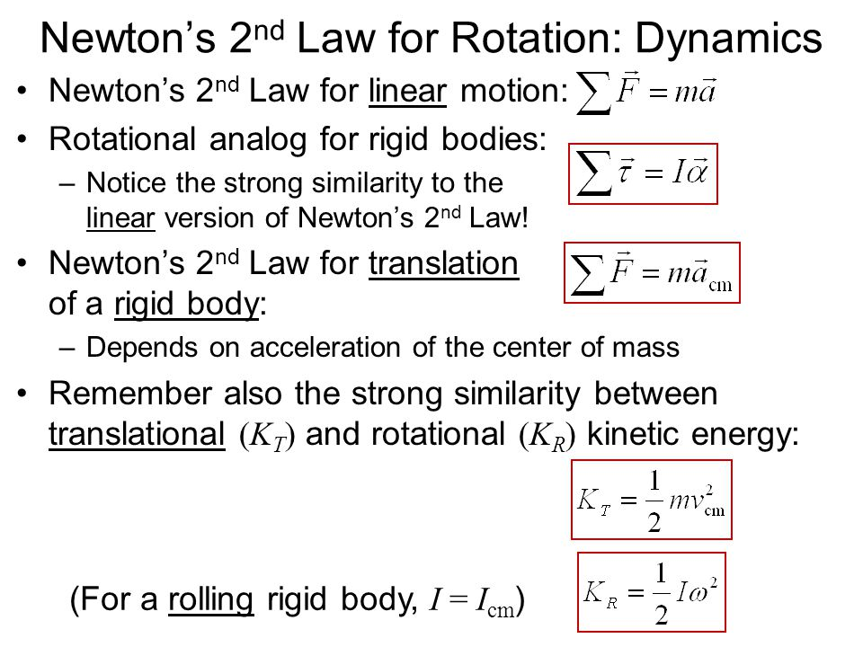 Newton's 2nd Law for Rotation: Dynamics